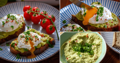Fitness recipe: Bread with avocado spread and poached egg
