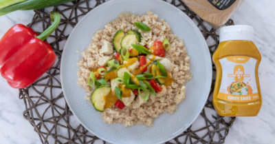 Fitness recipe: Couscous with chicken and vegetable