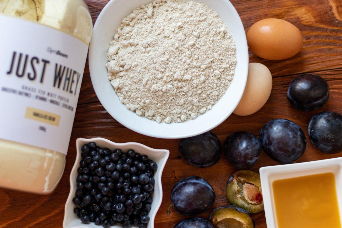Ingrediencie na ovocnú bublaninu