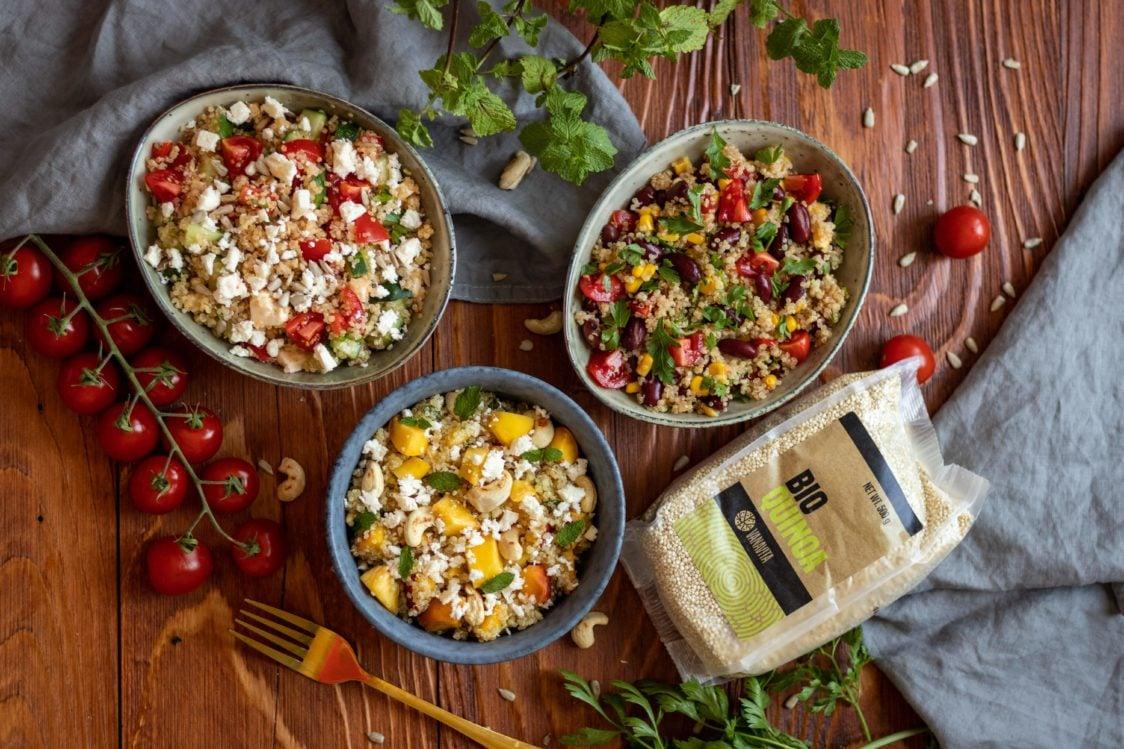 Ricetta fitness: insalata di quinoa 3x varianti
