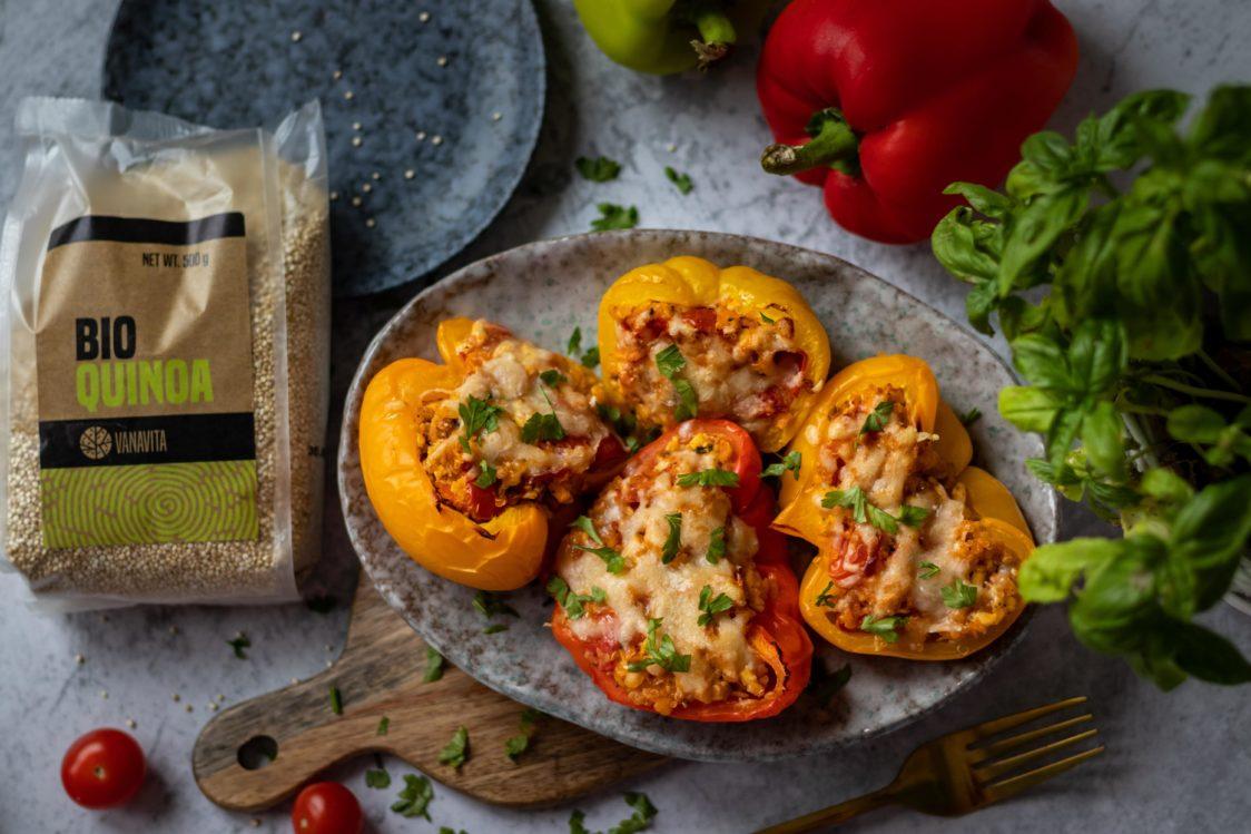 Fitness recept: sült paprika parmezán kéreggel