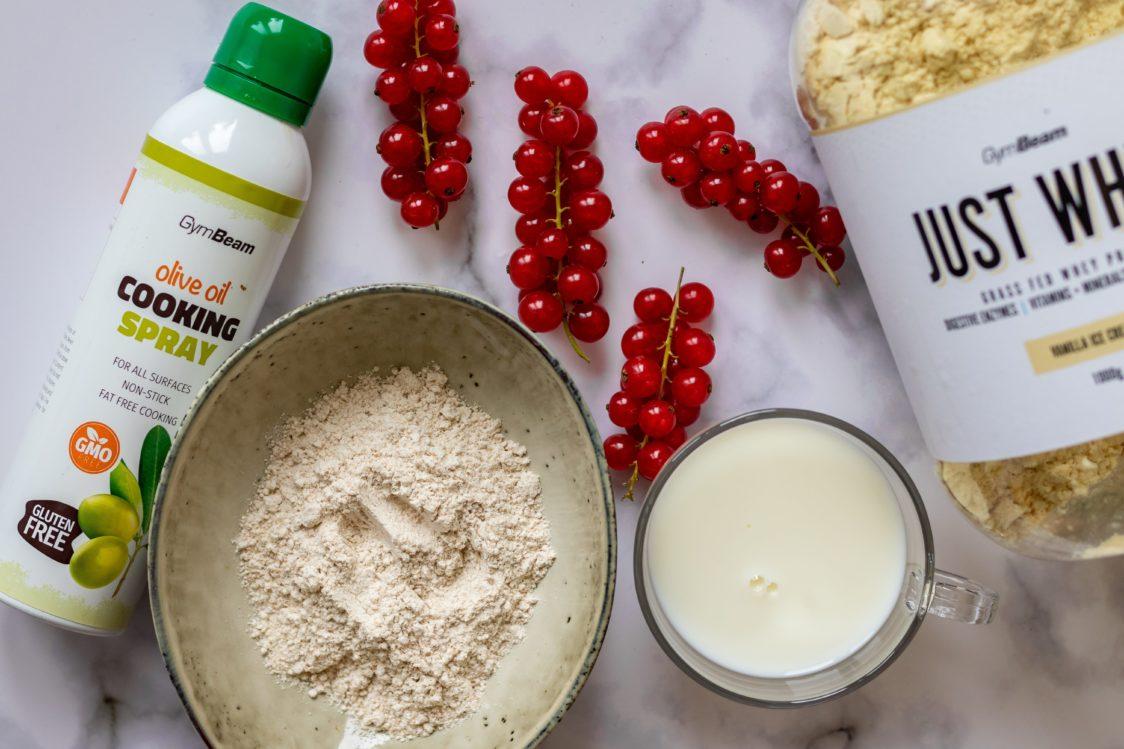 Zutaten für Protein-Pfannkuchen-Getreide