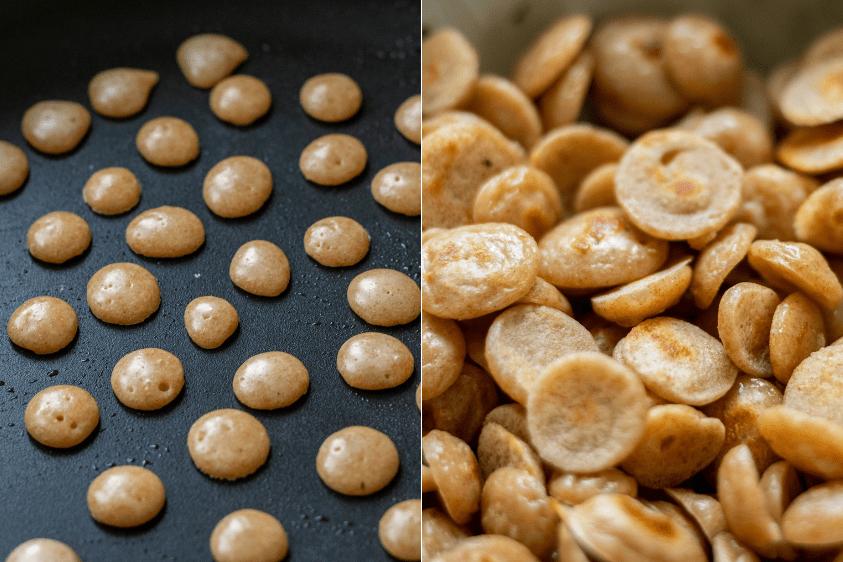 Zubereitung von Protein-Pfannkuchen-Getreide