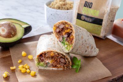 Fit recept: Sočni goveji burrito s kvinojo