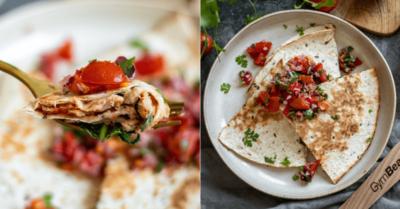 Fitness recipe: Quesadilla with tuna and tomato salsa