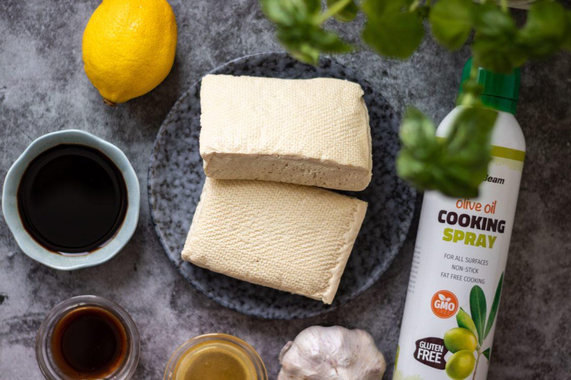 Ingrediencie na chrumkavé tofu steaky