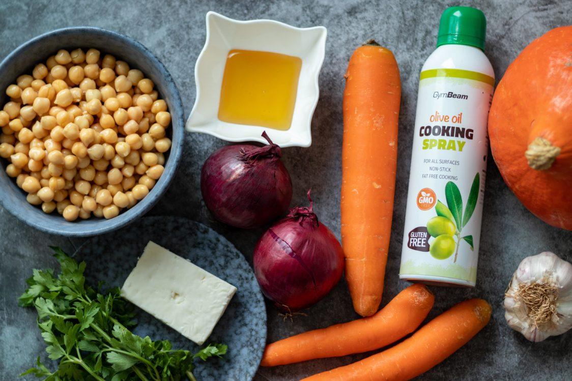 Składniki na pieczone warzywa z serem feta