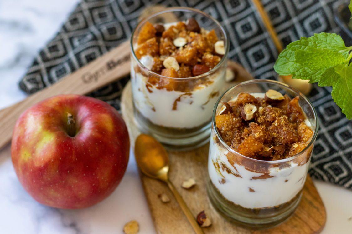 Fitness recept: Jablkový cheesecake dezert v pohári