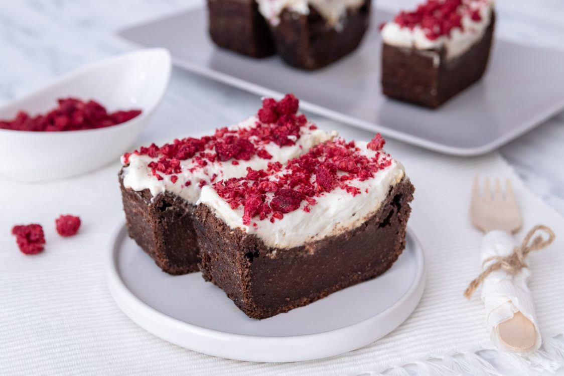 Fitness recipe: Beetroot brownie with cream cheese icing