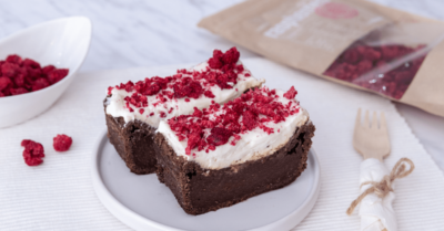 Fitness recipe: Beetroot brownies with cream cheese icing
