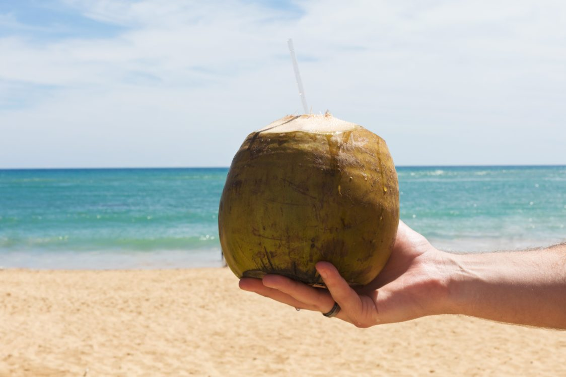 Coconut water hydrates the body