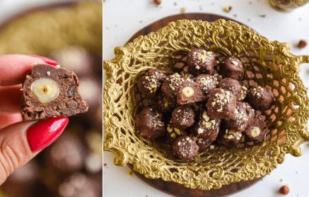Web - Čokoládové proteínové bonbóny