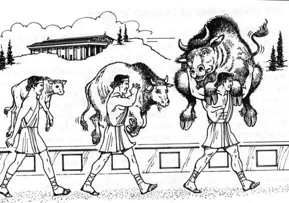 Милон Кротонски - как набира сила