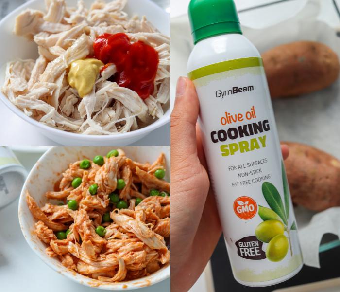 Fitness recept: Batáty plněné kuřecím masem a praženými arašídy