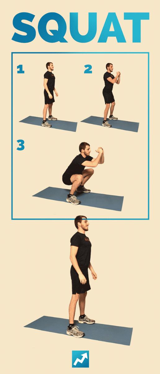 Приседания - 12 упражнений с собственным весом