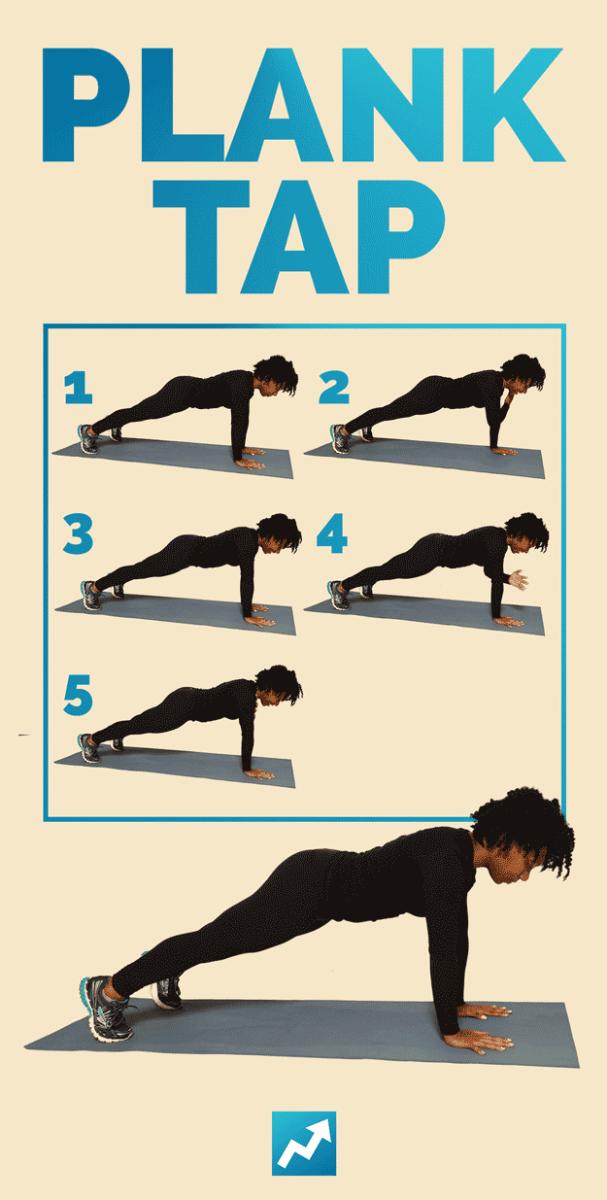 Plank s dotykom ramena (Plank tap)