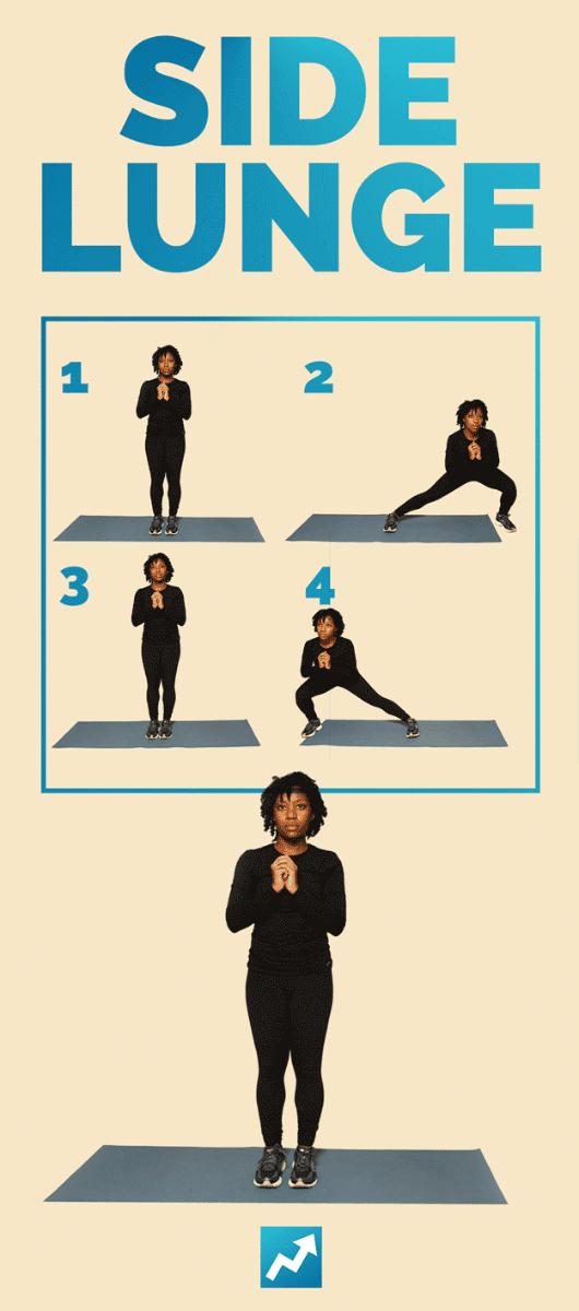 Выпады в сторону - 12 упражнений с собственным весом
