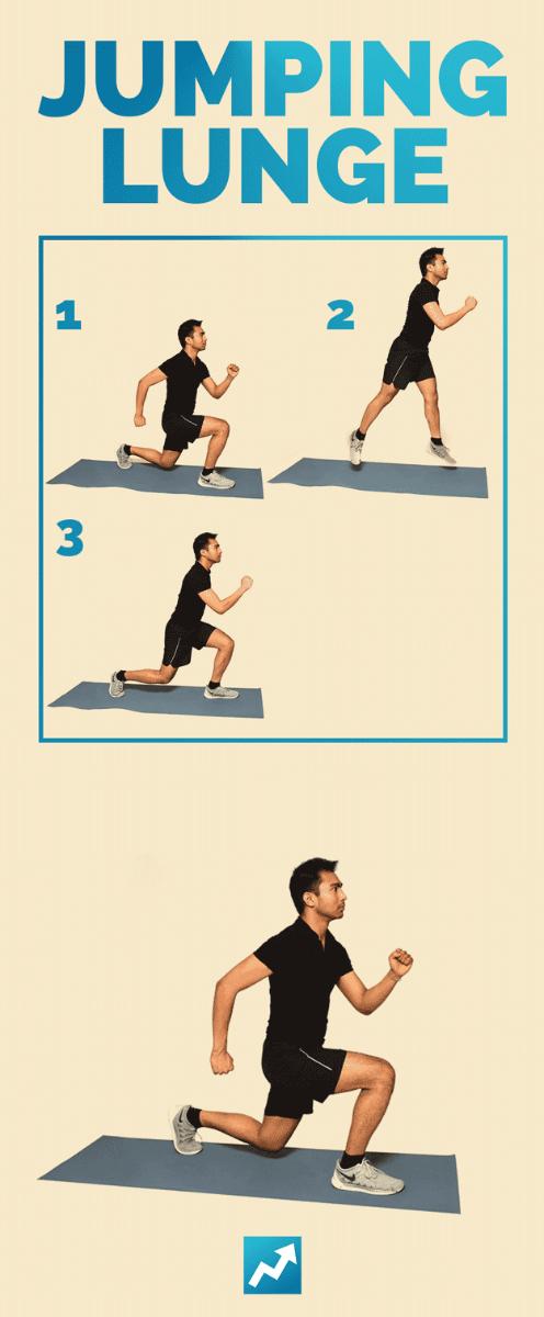 Выпад с прыжком - упражнение