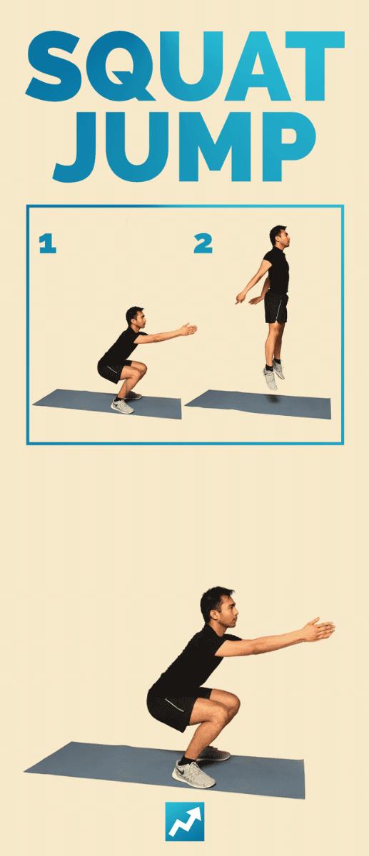 Приседания с прыжком - упражнение
