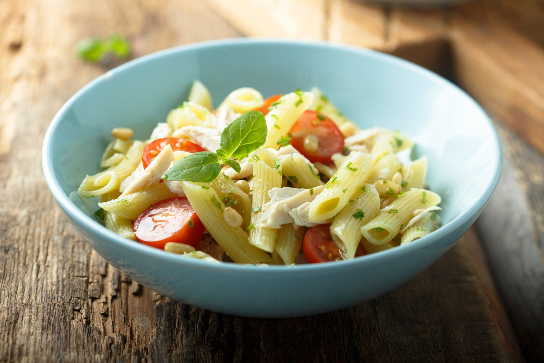 Light pasta salad