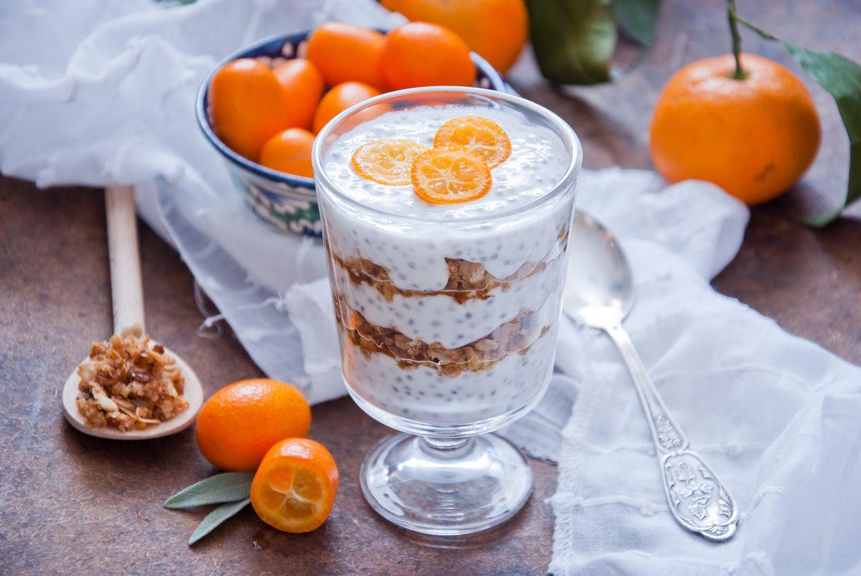Рецепт апельсинового чиа пудинга
