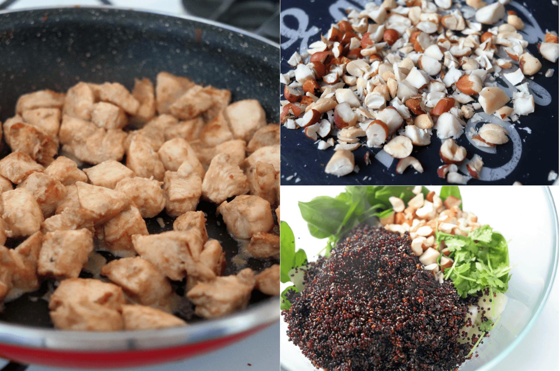 Mod de preparare rețetă fitness: Pui barbeque cu salată quinoa și ananas