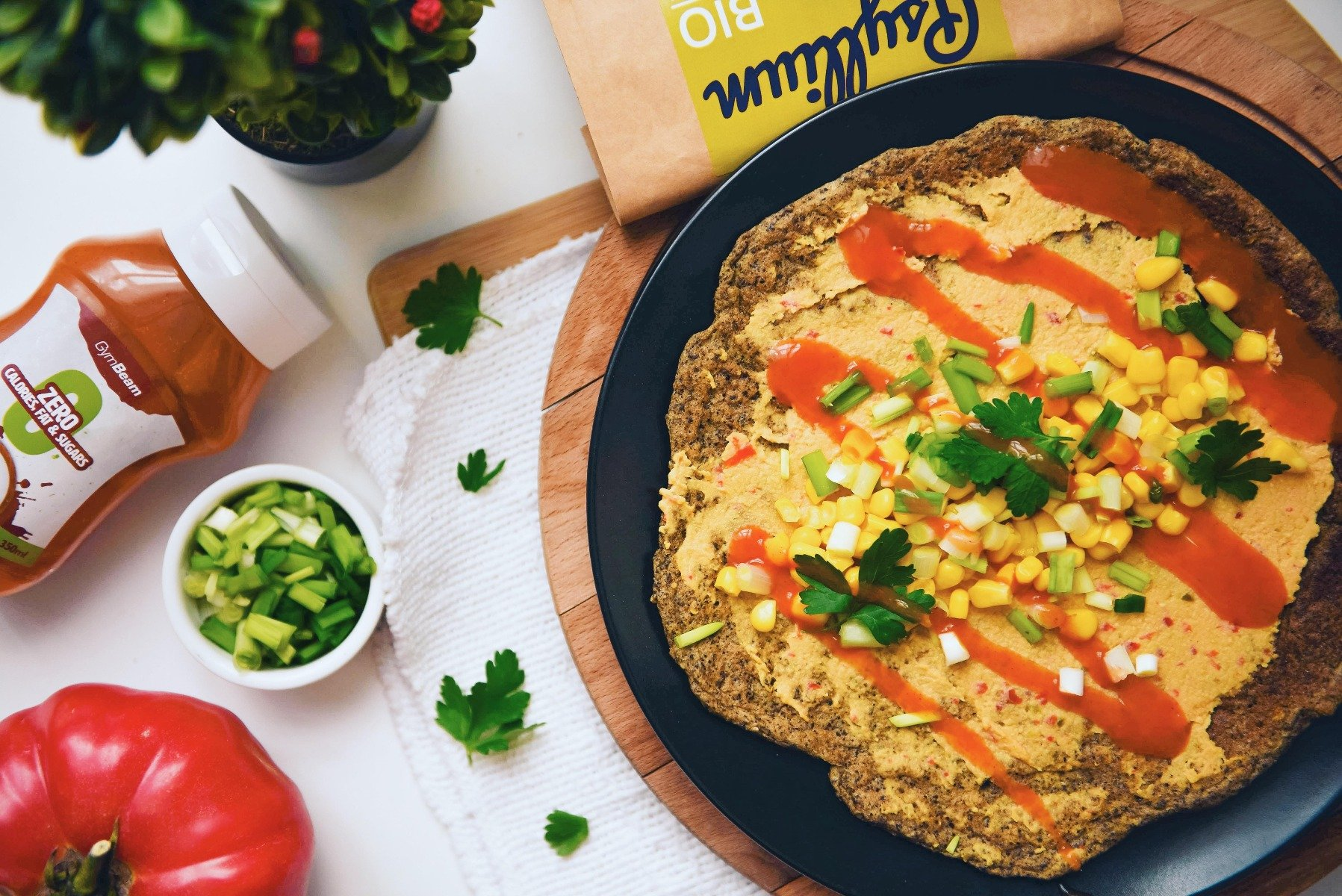 Fitness recipe: Vegan tortilla with high protein content