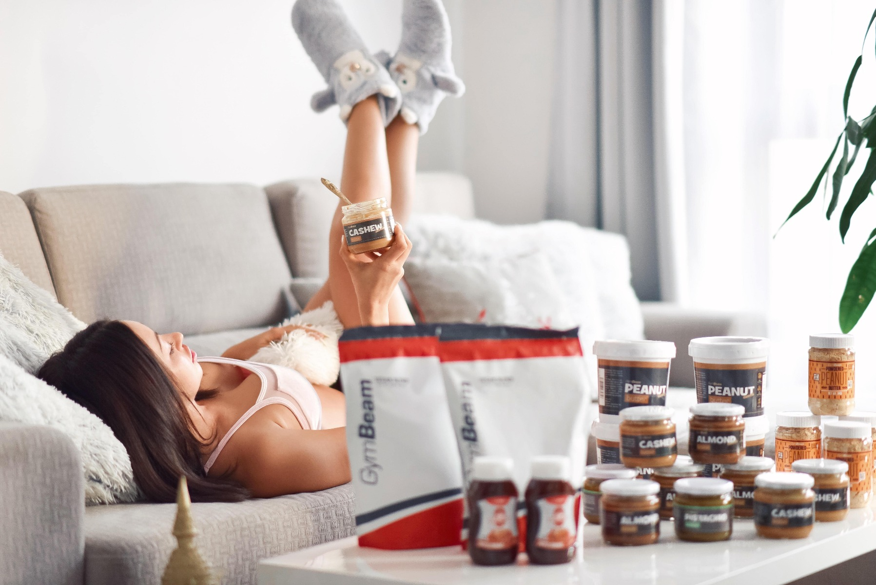 Regulieren Sie die Reihe von ungesunden Snacks